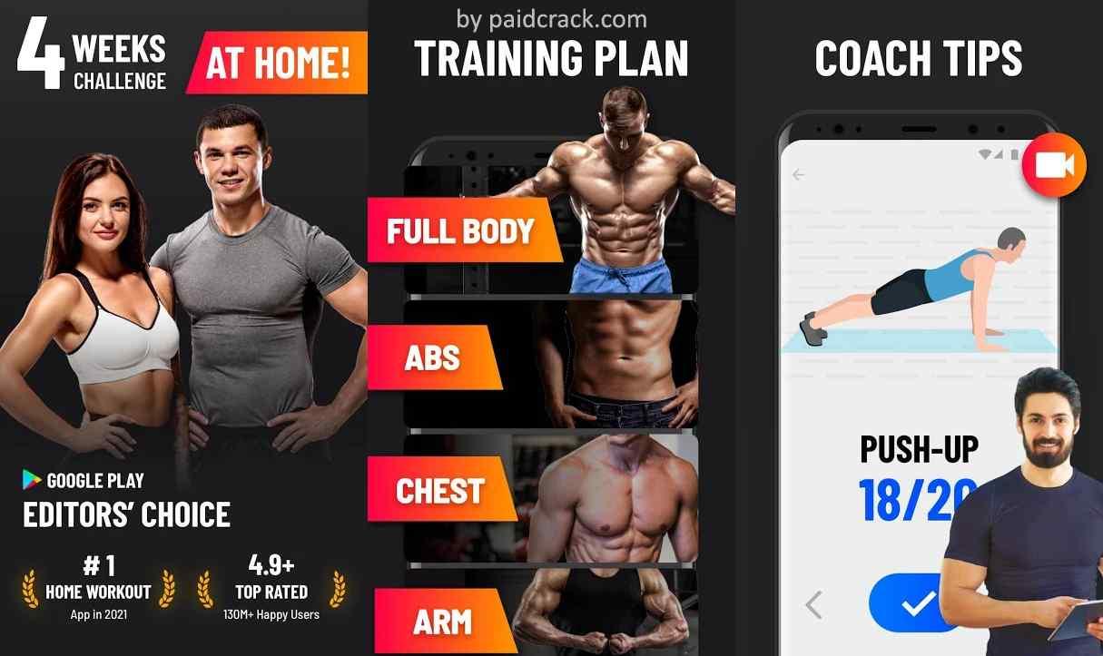 Home Workout - No Equipment Premium Mod Apk 1.1.2