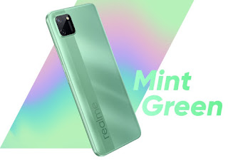 Realme C11, Variant Color, mint green