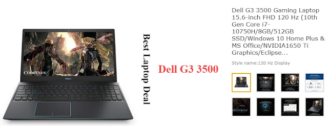 Dell G3 3500 Gaming Laptop 15.6-inch FHD 120 Hz (10th Gen Core i7-10750H/8GB/512GB SSD