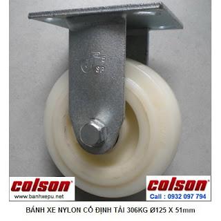 Bánh xe đẩy công nghiệp thủy sản Nylon chịu lực 306kg | S4-5208-829 www.banhxepu.net