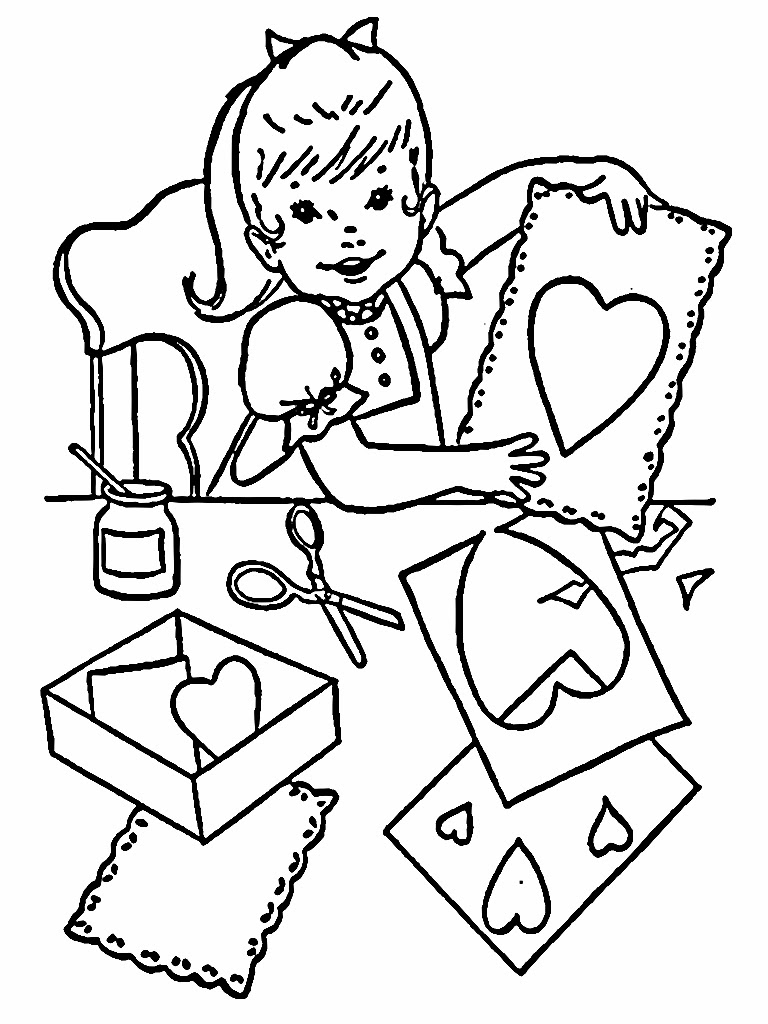 Creative Kids Valentine Coloring Pages