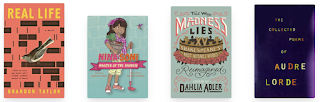 four cover images that go with the titles mentioned below.