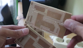 Hasil etching PCB - rahmat siswanto
