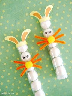 provette a forma di coniglio per pasqua