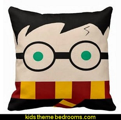 Harry Potter pillow  Harry potter themed bedrooms - Harry Potter Room Decor - Harry Potter Bedroom Ideas - Harry Potter  bedding - Harry Potter wall decals - Harry Potter wall murals - harry potter furniture - harry potter party supplies - castle decorating props - harry potter party decorations
