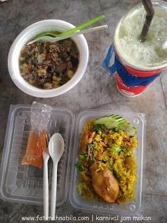 nasi komok, green tea, kuey tiaw sup, makanan thailand