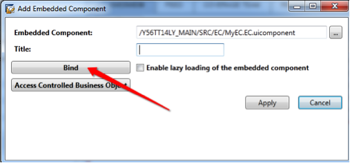 Marvelous Next press Bind to bind the parameters of the Account TI Outport to your EC Inport parameters