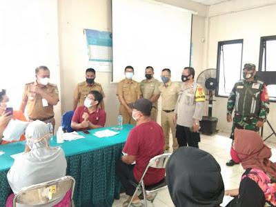 Sekda dan Dinsos Monitoring BST di 8 Kelurahan Wilayah Kecamatan Larangan