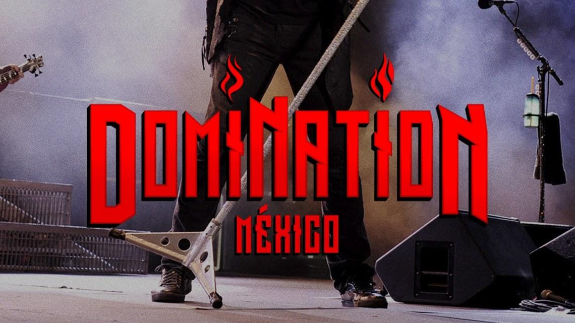 Festival Domination en Mexico con letras en rojo