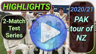 New Zealand vs Pakistan Test Series 2020