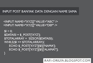 Input POST banyak data dengan name yang sama di PHP