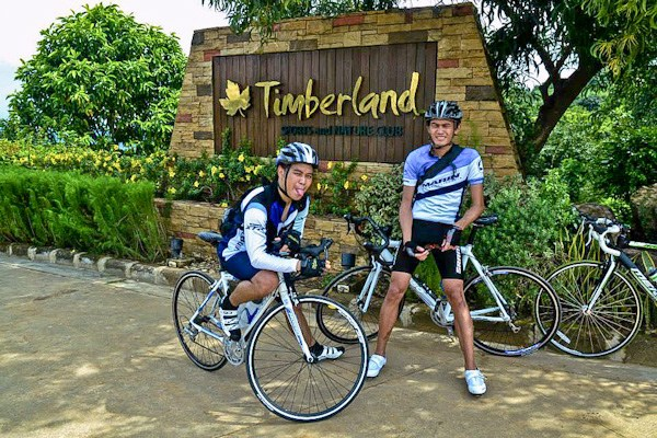 Entrance, Biking Up the Wall of Timberland