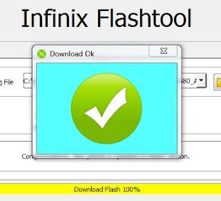 cara flash Infinix X557