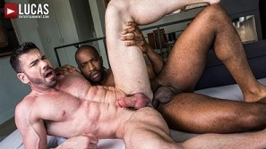 Billy Santoro Rides Lawrence Portland's Big Black Cock (Bareback)