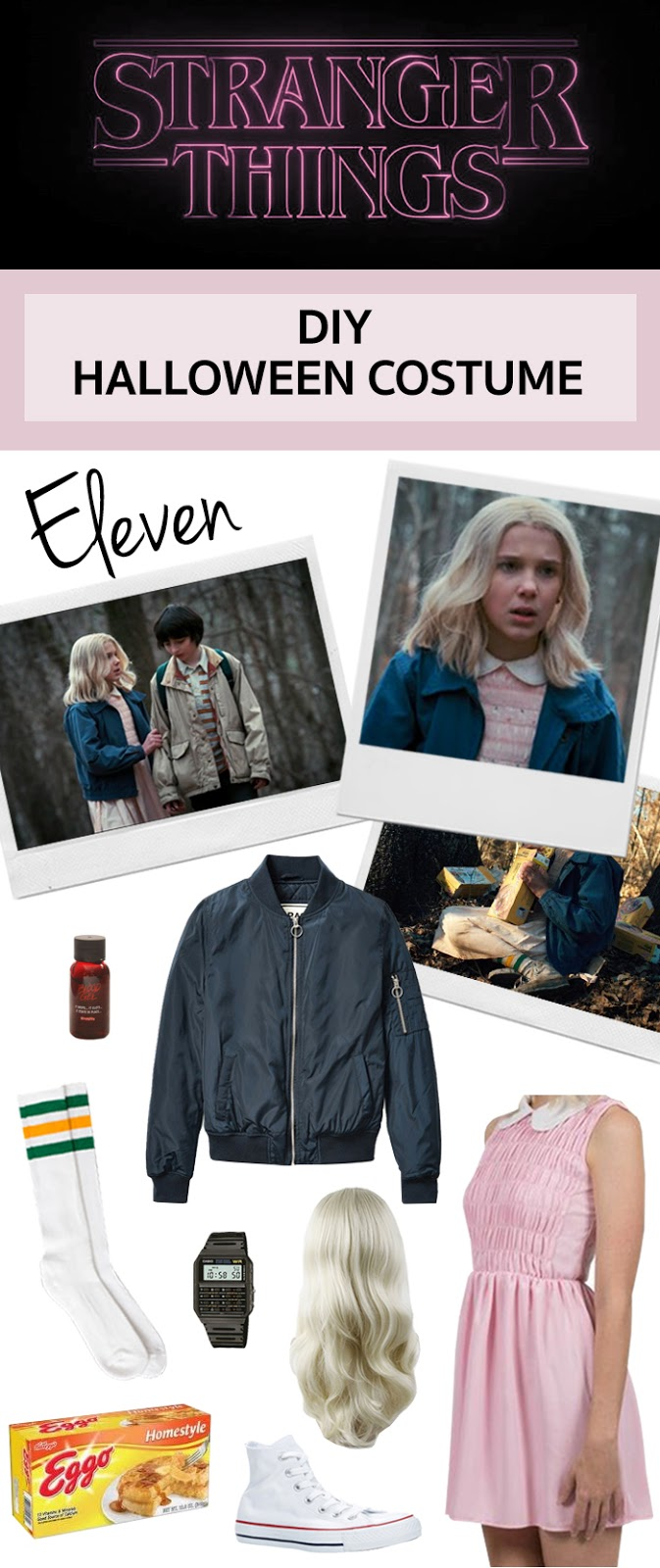 Halloween costume idea Eleven from Stranger Things