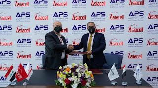 شركة العرب للدفع الالكتروني APS  توقع عقد شراكة مع اسيا سيل للاتصالات