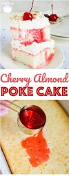 Cherry Almond Poke Cake