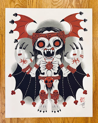 """Vampire King"" Creeptoids Art Print by Reis O'Brien x Bimtoy"