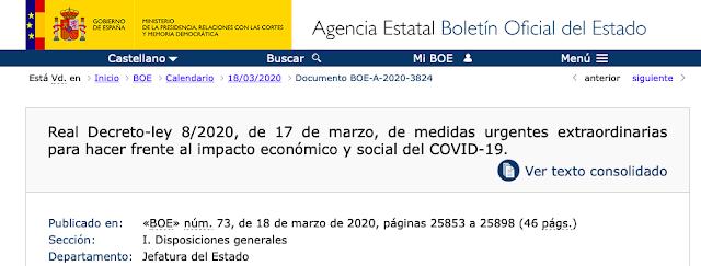 Decreto medidas económicas Covid-19