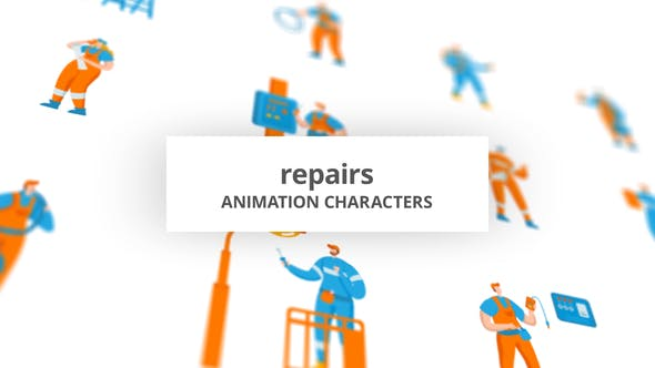 Repairs – Character Set[Videohive][After Effects][29102506]