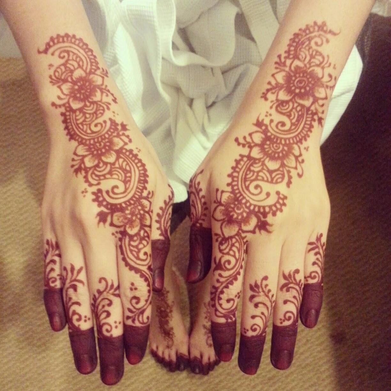Foto Henna Gambar Bunga Paling Update
