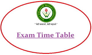JVWU Exam Date Sheet 2020