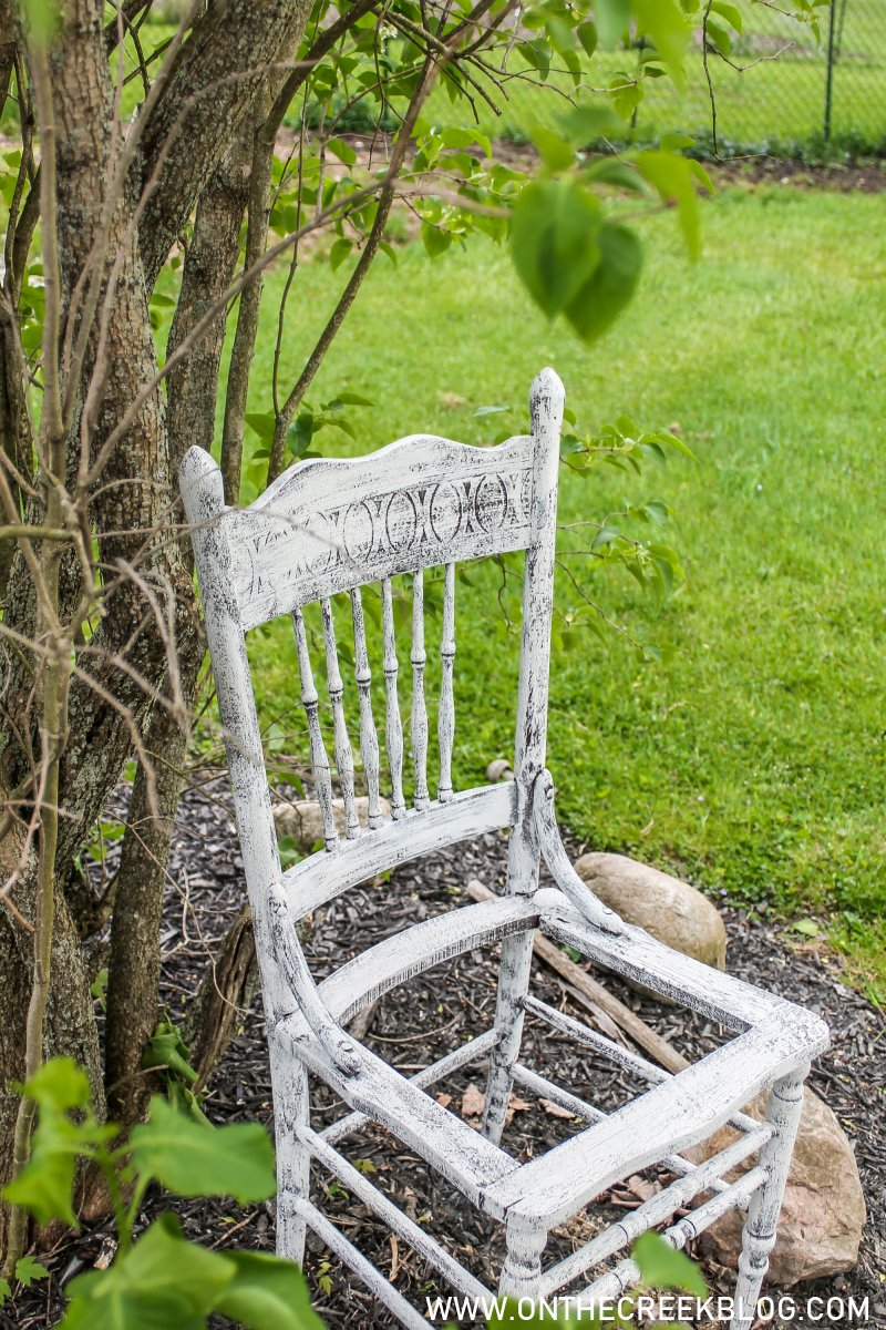 Chippy Chair Planter Makeover | On The Creek Blog