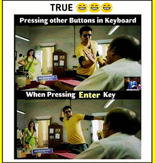 Keyboard buttons enter meme by @electronic_brain on Instagram