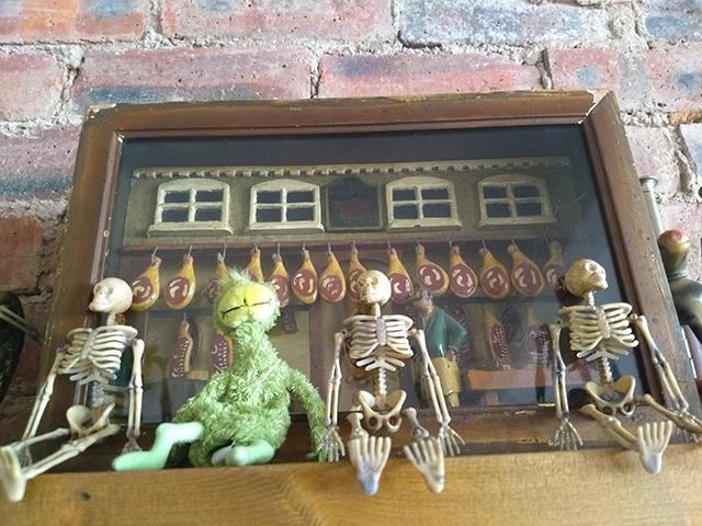 eclectic shelf