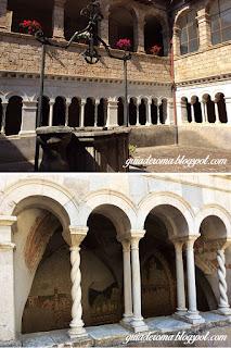 cortile cosmatesco scolastica - O Monastério de Santa Escolástica - bate e volta a partir de Roma