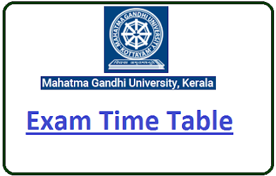 MGU Kottayam Even Sem Time Table 2020