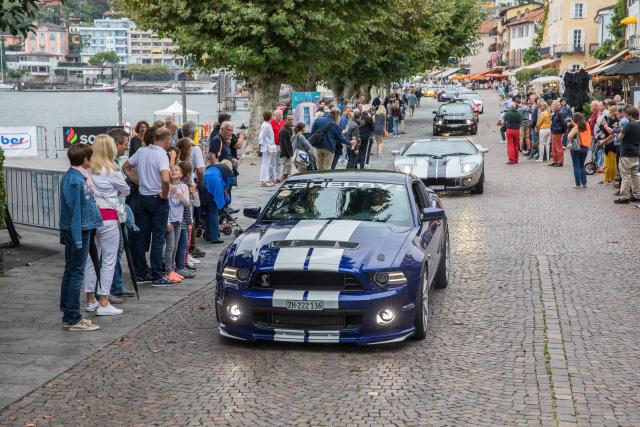 Ford Mustang 350 GT Shelby, Ford GT und andere Sportwagen des Sportcars Day 2018 beim Aufbruch ins Maggiatal