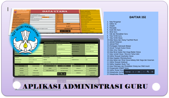 Aplikasi  administrasi Guru K13 Semua Jenjang  excel 2019/2020