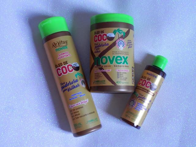 Resenha: Linha óleo de coco - Novex