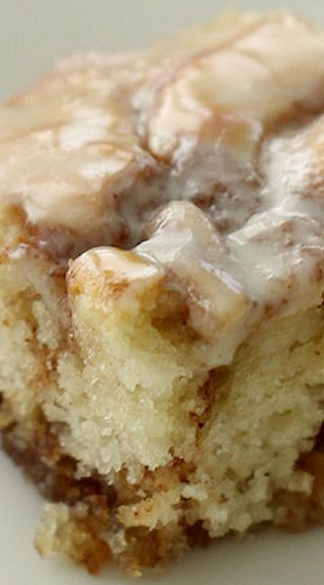 This cinnamon roll cake is simple and takes your favorite roll and puts it in cake form. Swirled with cinnamon, butter and brown sugar and topped with a glaze, this cake is sure to be a new favorite.