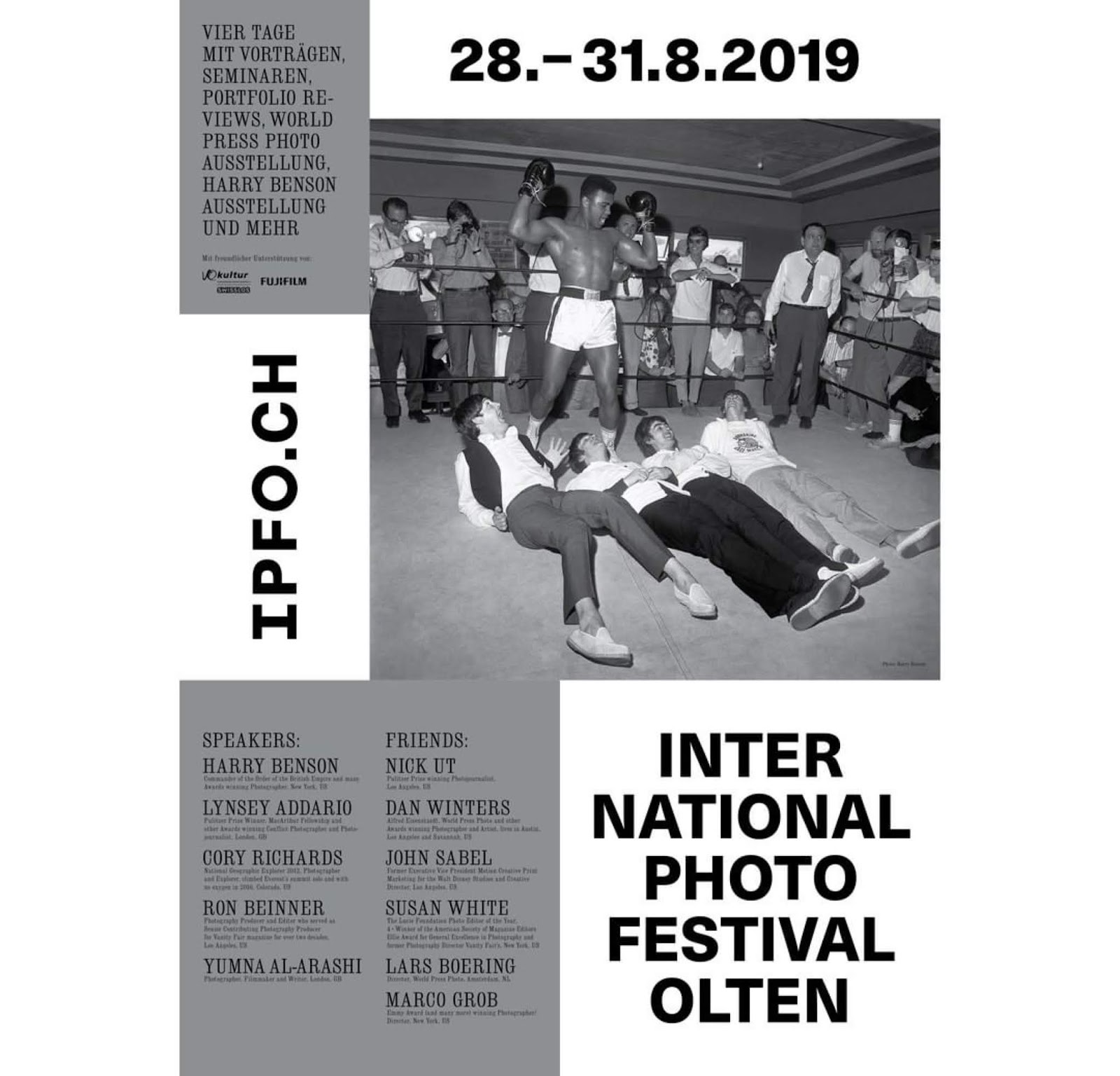The Second Edition of the IPFO - International Photo Festival Olten from 28.-31.8.2019