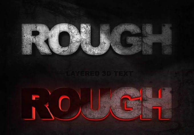 Rough Rock Text Effect PSD