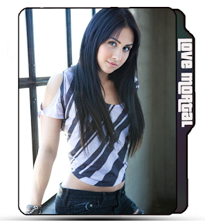 Cute pretty girl Lauren Gottlieb folder icon, black hair girl icon, ABCD movie, Celebrity icon.