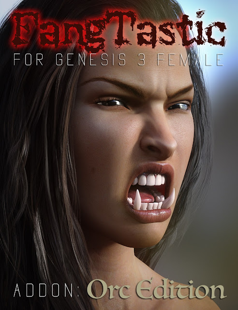 FangTastic ADDON:Orc for Genesis 3 Female