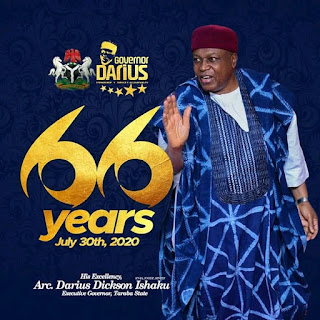 Taraba Digital Artist Paints Gov. Darius Ishaku To Celebrate The Governor's 66 Year Old Birthday