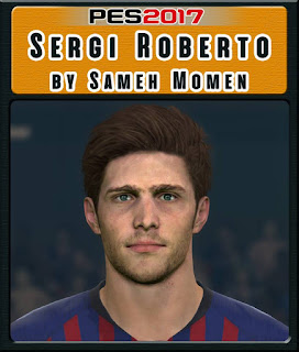 PES 2017 Faces Sergi Roberto by Sameh Momen