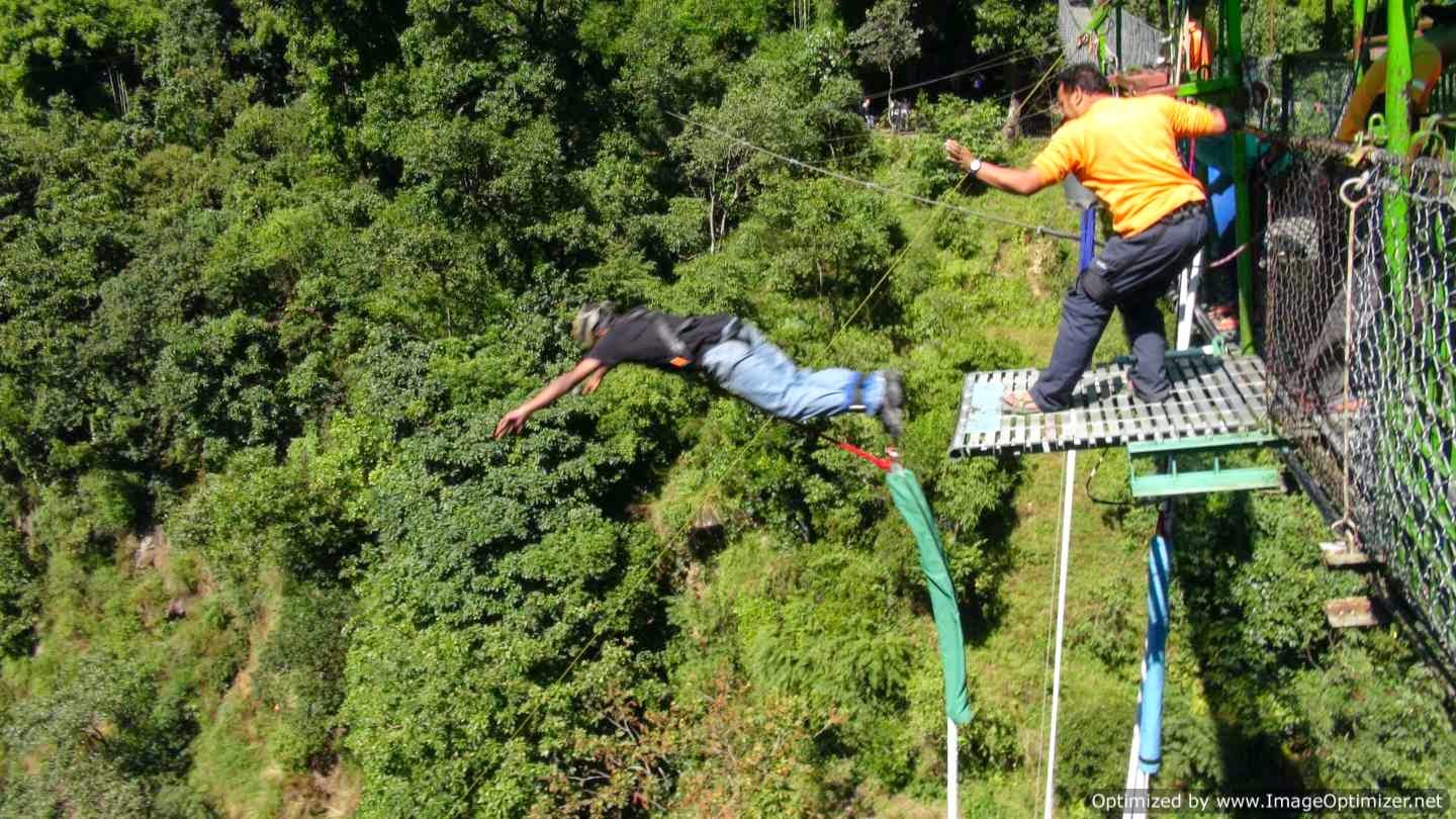 My bungee jump at The Last Resort, Nepal