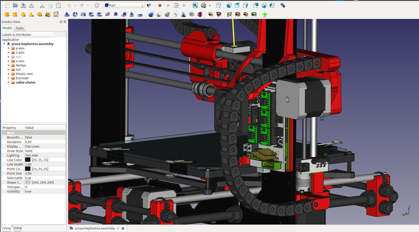 Hobart 3D CAD under Linux - FreeCAD