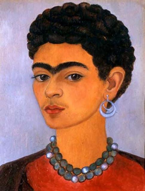 Фрида Кало - Автопортрет с кудрявыми волосами. 1935