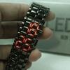 Jam Tangan Iron Samurai Metal Black LED Red Watch