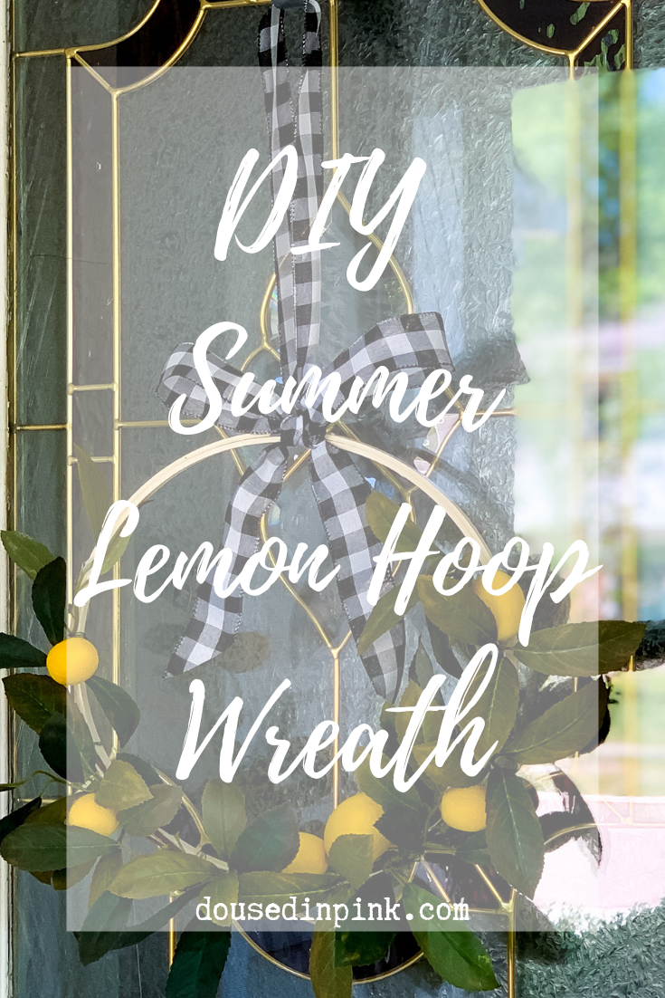 Easy Lemon Hoop Wreath DIY Tutorial