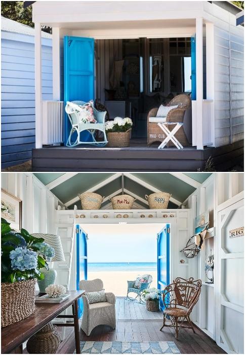 Beach Shed Interiors Maine