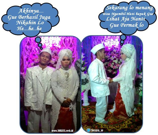 ilustrasi photo fakta pria menikahi wanita