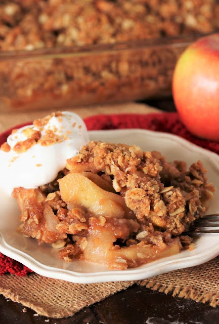 Fresh Apple Crisp with Whipped Cream Image