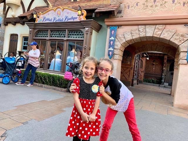 My daughters in Disneyland